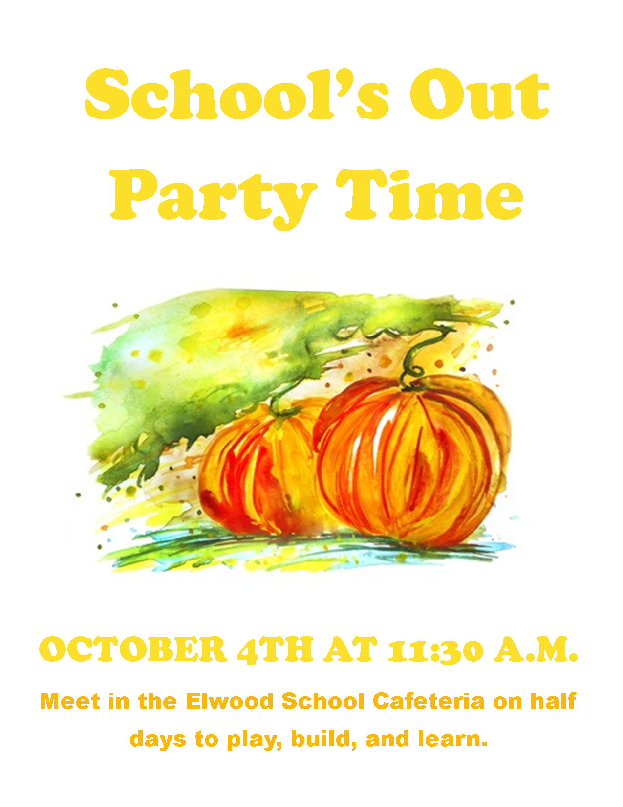 School's Out Party Time: Pumpkin Science