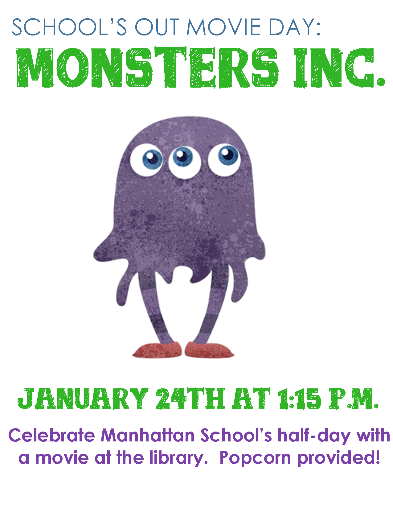 School's Out Monsters Inc