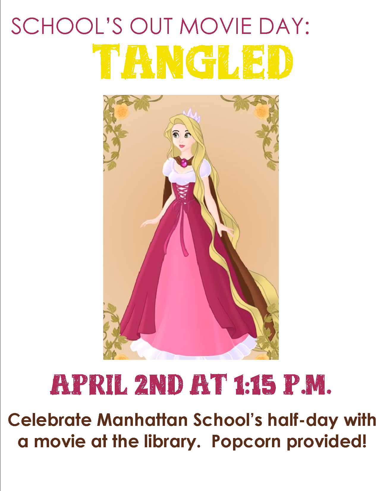 School's Out Movie Day: Tangled